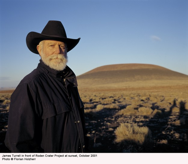 "James Turrell casts a long shadow in the art world, and no project is bigger than that of his Roden Crater: an ancient, non-active volcanic crater in the Arizona desert which he is converting to a naked-eye observatory. Michael Govan writes in the book James Turrell: A Retrospective, ""In some parts Roden Crater is an architectonic camera obscure, rendering the image of celestial bodies like the sun or moon within spaces we inhabit—bringing outside light inside."""