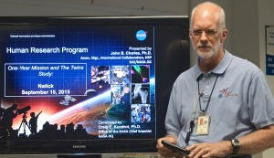 John Charles, chief of NASA's Human Research Program International Science Office, is the main researcher working with astronaut Scott Kelly as part of the International Space Station's One-Year Mission.