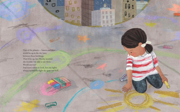 Bright Sky, Starry City © 2015 by Uma Krishnaswami, illustrations © 2015 by Aimée Sicuro. Reproduced with permission of Groundwood Books Limited (www.groundwoodbooks.com)