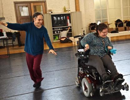Alito Alessi dances with Amy Elizabeth Litzinger